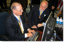 After being honored with the Presidential Medal of Freedom, Dr. Vinton G. Cerf and Dr. Robert E. Kahn answer questions about the Internet on Ask the White House Wednesday, Nov. 9, 2005.