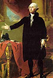 Portrait of President George Washington by Gilbert Stuart.
