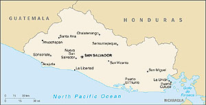 Map of El Salvador