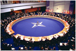 The North Atlantic Council Summit meets in Prague, Czech Republic, Nov. 21, 2002. White House photo by Eric Draper
