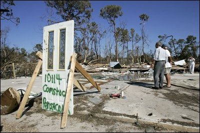 On September 19th, 2004, a few days after Hurricane Ivan made landfall, President Bush visited Pensacola, Fla., where residents took him on a walking tour through homes that no longer existed. The following week, President Bush visited Millvale, Pa., an Allegheny community flooded by the same storm. President Bush declared the county a major disaster site and ordered federal aid for Allegheny and several nearby counties.