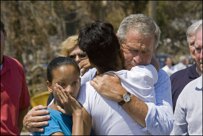 president bush and hurricane katrina essay Federalism and hurricane katrina essay she refused requests from the president, who was president george w bush at that time in the end.