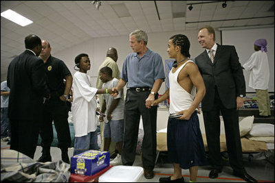 president bush and hurricane katrina essay Us president george w bush looks out the window of air force one 31 august, 2005, as he flies over new orleans, louisiana, surveying the damage left by hurricane katrina.