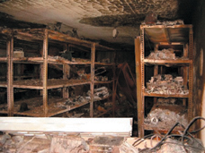 Photo: Ministry of Foreign Affairs. The basement historical files were systematically selected and destroyed.