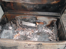 Photo: Burned Documents Found at SAAD Center