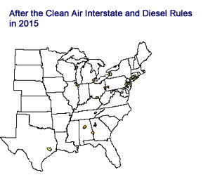 After the Clean Air Interstate and Diesel Rules in 2015