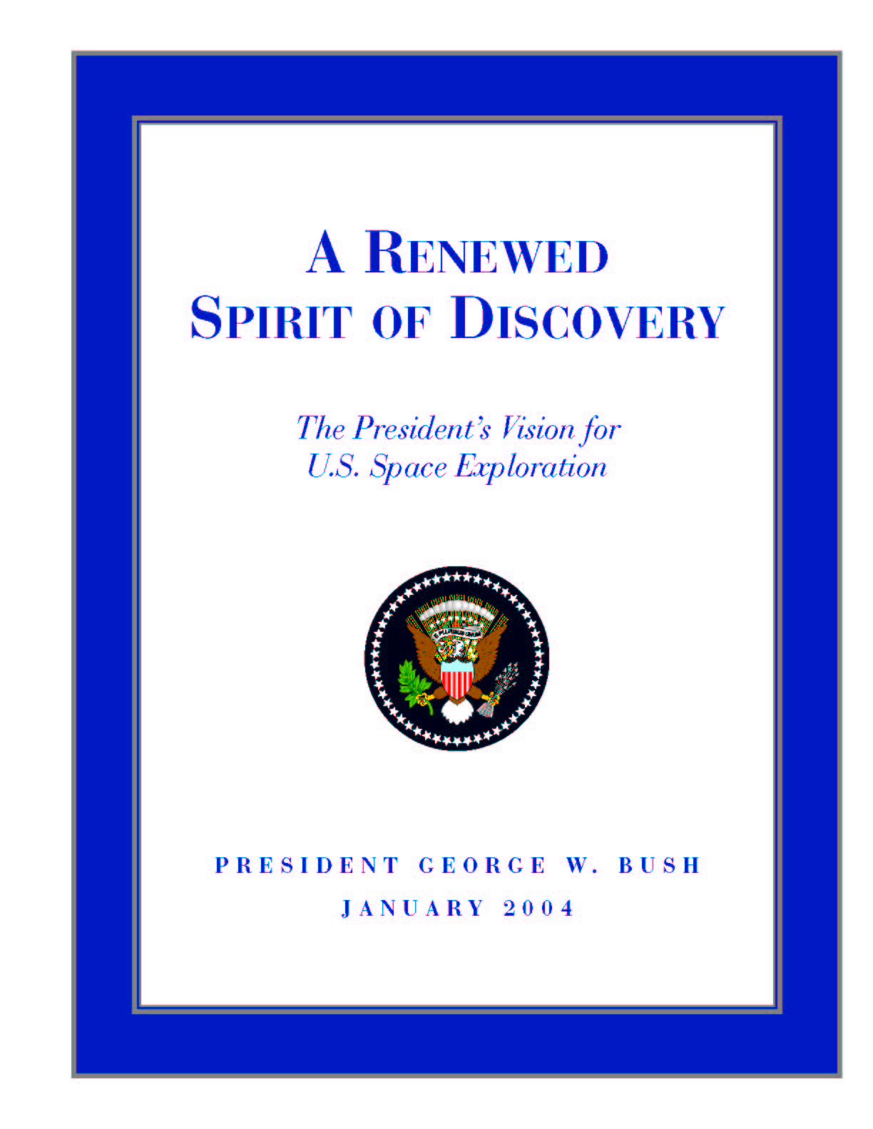 A Renewed Spirit of Discover