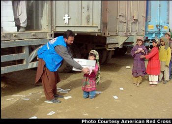 The first shipment of humanitarian goods purchased from America's Fund for Afghan children left the U.S.