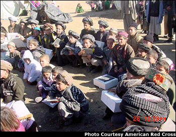 A gift to Afghan children from American children.