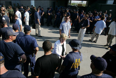 the george bush speech on the hurricane katrinas destruction Bush's initial hurricane katrina response: a pr blunder  giving the speech in the case of katrina, bush did not take into consideration how his location and .