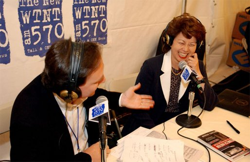 Secretary of Labor Elaine Chao laughs during a light moment at the White House Radio Day Wednesday, Oct 30. White House photo by Tina Hager.