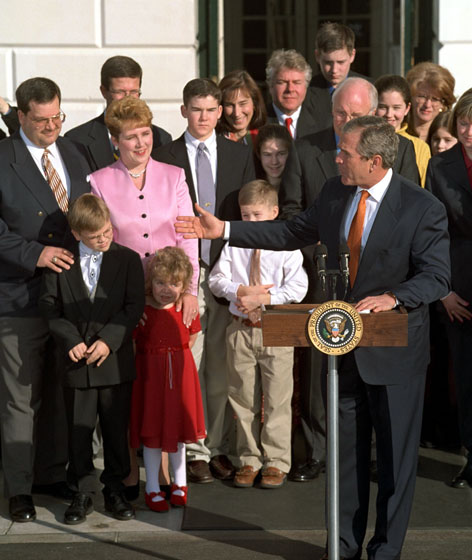 President Bush at Tax Family Reunion