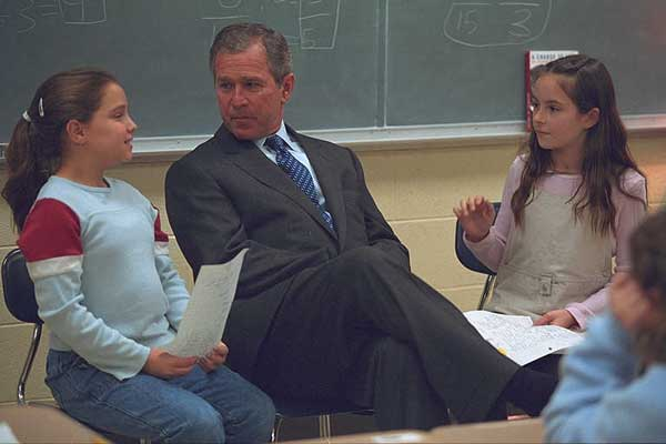 President Bush speaks at Townsend Elementary School in Tennessee