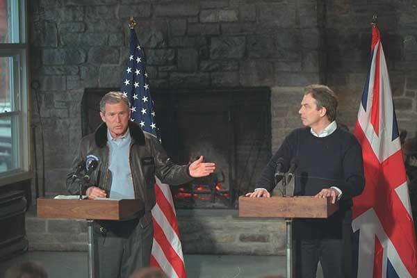 President George W. Bush and Prime Minister Blair in Joint Press Conference