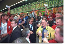 President George W. Bush at Chicago Mercantile Exchange