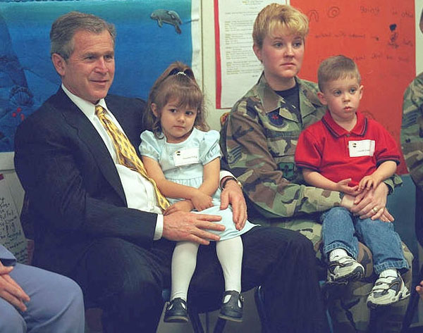 President George W. Bush at Youth Activities Center at Tyndall Air Force Base, Florida