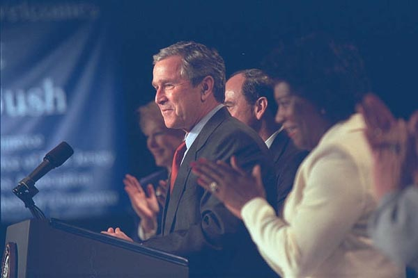 President Bush Speaks at Joint Meeting of the New Jersey Chamber of Commerce.