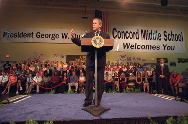 President visited with students at Concord, Middle School in North Carolina.