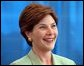 "Laura Bush visits Fort Jackson Army Base, for a ""Troops to Teachers"" rally in Columbia, South Carolina May 8, 2001. White House photo by Paul Morse."