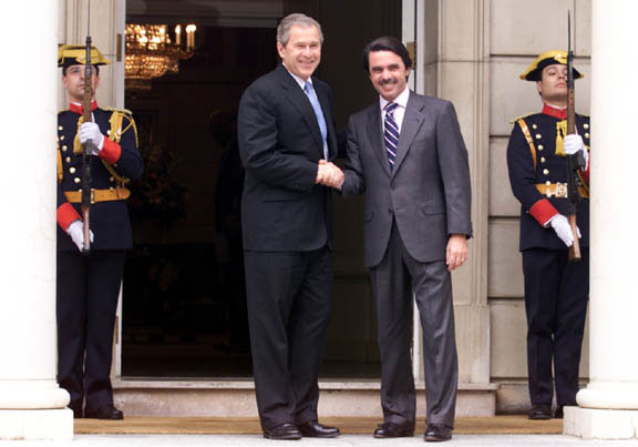 Joint Press Conference with President George W. Bush and President Jose Maria Aznar - Madrid, Spain