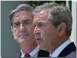 President George W. Bush announces Robert Mueller to be
