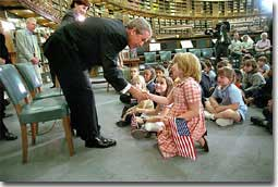 Welcomed by leaders both tall
