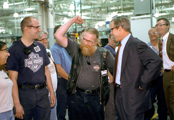 remarksthe president to workers at harley davidson factory