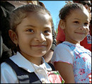 Photo of children at the State Arrival Ceremony.