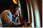 President George W. Bush speaks to Vice President Dick Cheney by phone aboard Air Force One after departing Offutt Air Force Base in Nebraska, Tuesday, Sept. 11, 2001. White House photo by Eric Draper.