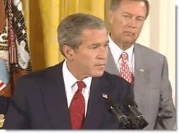 President Bush Signs Corporate Corruption Bill. Video screen capture by Monty Haymes.