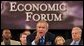 President George W. Bush makes a statement on how to improve the economy at the plenary session of the President's Economic Forum held at Baylor University in Waco, Texas on Tuesday August 13, 2002. White House photo by Paul Morse
