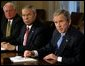 President George W. Bush address members of the Cabinet in the Cabinet Room at the White House, Wednesday, Nov. 13. White House photo by Paul Morse