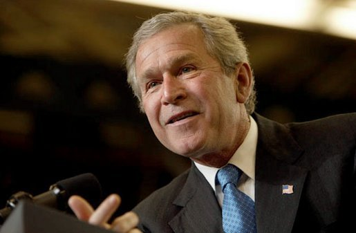 President George W. Bush discusses jobs and the economy at the Timken Company in Canton, Ohio, April 24, 2003. White House photo by Paul Morse