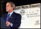 President George W. Bush delivers remarks at the Department of the Treasury's Philadelphia Financial Management Service Facility July 24, 2003. White House photo by Tina Hager