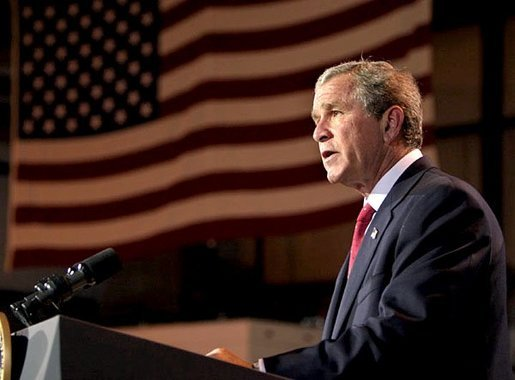 "President George W. Bush remarks on the bombing of the U.N. Headquarters in Iraq from his ranch in Crawford, Texas, Tuesday, August 19, 2003. ""Today in Baghdad terrorists turned their violence against the United Nations. The U.N. personnel and Iraqi citizens killed in the bombing were in that country on a purely humanitarian mission. Men and women in the targeted building were working on reconstruction, medical care for Iraqis. They were there to help with the distribution of food. A number have been killed or injured. And to those who suffer, I extend the sympathy of the American people,"" said the President. White House photo by Paul Morse."
