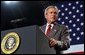 President George W. Bush talks about the progress on clean air reforms at the Detroit Edison's Monroe Power Plant in Monroe, Mich., Monday, Sept. 15, 2003. White House photo by Tina Hager.