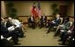 President Ricardo Lagos of Chile and President George W. Bush meet during the Special Summit of the Americas in Monterrey, Mexico, Jan. 12, 2004. White House photo by Eric Draper.