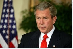 "President George W. Bush delivers a statement regarding the sanctity of marriage in the Roosevelt Room Tuesday, Feb. 24, 2004. ""Activist courts have left the people with one recourse,"" said the President. ""If we are to prevent the meaning of marriage from being changed forever, our nation must enact a constitutional amendment to protect marriage in America.""  White House photo by Paul Morse"