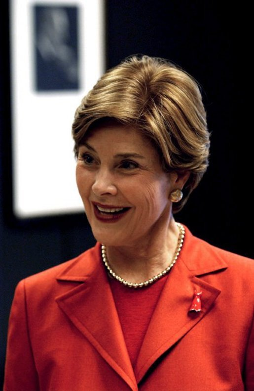 "Traveling to raise the awareness of heart disease, Laura Bush discusses the Heart Truth Campaign in Chicago Tuesday, March 23, 2004. ""And all of us, I think, were very shocked to find out that heart disease is the number one cause of death among American women. We all thought that heart disease was a man's disease,"" said Mrs. Bush explaining that about 65,000 more women than men will die of Heart disease this year. White House photo by Tina Hager"