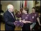 Vice President Dick Cheney meets with the Wyoming Race for the Cure Team in the Roosevelt Room Thursday, June 3, 2004. White House photo by David Bohrer.