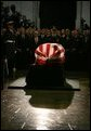 The casket containing the body of former President Ronald Reagan lies in state in the U.S. Capitol Rotunda Wednesday, June 9, 2004. White House photo by David Bohrer.