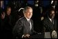 President George W. Bush delivers remarks on the Presidents Emergency Plan for Aids Relief, at People for People in Philadelphia, Pa., Wednesday, June 23, 2004. White House photo by Tina Hager