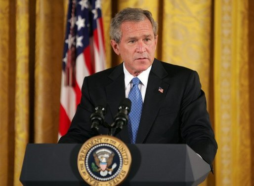 President George W. Bush speaks during a reception commemorating the 40th Anniversary of the Civil Rights Act at the White House on July 1, 2004. White House photo by Paul Morse