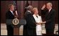 President George W. Bush observes Justice Clarence Thomas swearing-in Senator John Danforth as the new representative of the United States to the United Nations in the Eisenhower Executive Office Building on July 1, 2004. White House photo by Paul Morse