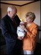 Vice President Dick Cheney and his wife Lynne became grandparents today, for the fourth time. Philip Richard Perry was born at 11:02 a.m. at Sibley Memorial Hospital in Washington, D.C., July 2, 2004. He weighed 8 pounds, 6 ounces. His parents are Liz Cheney and Phil Perry, the daughter and son-in-law of the Cheneys. White House photo by David Bohrer