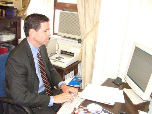 "Deputy Attorney General Jim Comey discusses Identity Theft on ""Ask the White House,"" Thursday morning."