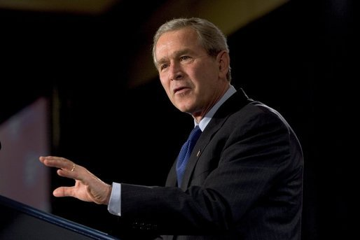 President George W. Bush delivers remarks to the National Urban League Conference in Detroit, Mich., Friday, July 23, 2004. White House photo by Eric Draper