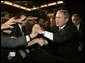 President George W. Bush greets audience members after remarks to the 122nd Annual Knights of Columbus Convention in Dallas, Texas, Tuesday, Aug. 3, 2004. White House photo by Eric Draper.
