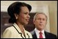 National Security Advisor Condoleezza Rice addresses the media during President George W. Bush's announcement to nominate Dr. Rice as Secretary of State in the Roosevelt Room Tuesday, Nov. 16, 2004. White House photo by Paul Morse.