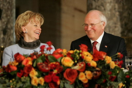 Lynne Cheney and Vice President Dick Cheney participate in the Inaugural Day Luncheon at the U.S. Capitol in Washington, D.C., Jan. 20, 2005. White House photo by David Bohrer